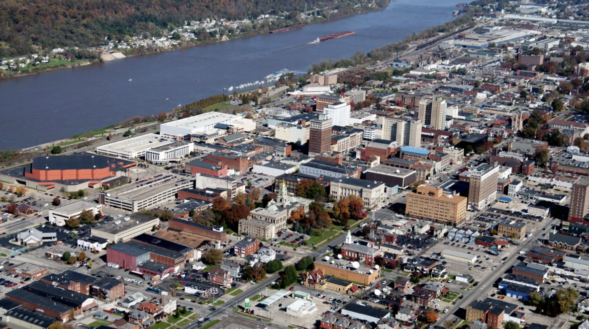 Picture: View of downtown Huntington